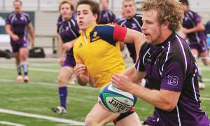 Gaels flyhalf and OUA leading scorer Liam Underwood couldn't stop the Gaels from losing 21-15 to the Western Mustangs in the OUA final on Sunday.