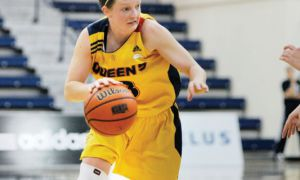 Guard Brittany Moore scored 21 points in Saturday's loss to the Brock Badgers.