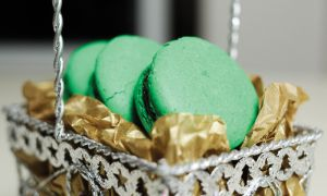 Peppermint mocha macarons will not disappoint the lucky recipient.