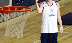 Fourth-year student Mike Farine was playing intramural basketball in September. Now he's suiting up for the Gaels.