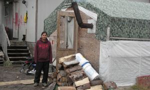 Housing conditions in Attawapiskat, like those pictured above, led Chief Theresa Spence to declare a state of emergency in October.