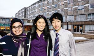 MCRC candidates include (left to right): Tuba Chishti, Dorothy Yu and John Liu.