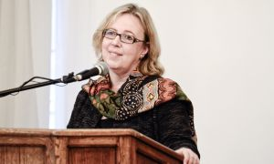 As part of a special winter speaker series, Green party leader Elizabeth May speaks in the Ban Righ Fireside Room on Friday afternoon.