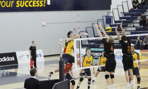 The men's volleyball team is 8-6 and fifth in the OUA.