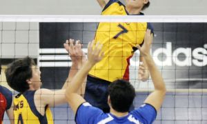 Rookie outside hitter Tyler Scheerhoorn has played more minutes than expected this season due to injuries to veteran players.