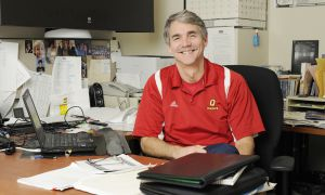 Women's basketball coach Dave Wilson has spent 31 seasons with the program, 30 of them as head coach.