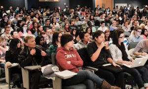 Increasing class sizes have led the University to move course content online in recent years.