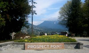 The men's hockey team recruits prospects from as far west as British Columbia. Prospect Point, located in Vancouver's Stanley Park, is pictured above.