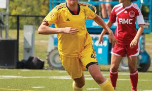 Striker Breanna Burton scored six goals in 2011.
