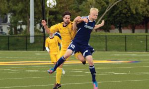 The men's soccer team remains undefeated (6-0-1) after beating Nipissing and Laurentian on the weekend.