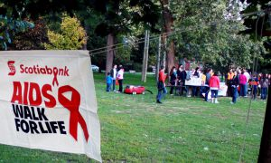 Approximately 150 people attended this year's AIDS Walk for Life, a decrease of approximately 50 people from last year's event.