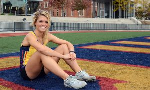 Julie-Anne Staehli never trained with a competitive track club, but the Lucknow, Ont. native took the OUA by storm with strong results at Queen's, Western and Guelph.
