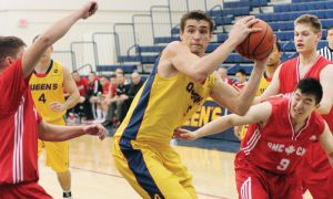 Queen's men's basketball team defeated RMC 72-41 on Feb. 4, 2012 - the last-ever matchup between the two teams.
