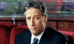 TV hosts Jon Stewart (above) and Stephen Colbert (below) use satire to criticize current events.
