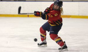 Katie Duncan is tied for third in OUA scoring for defenders, with four goals and 12 assists in 20 games.