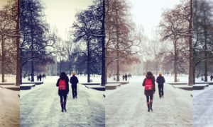 With over 100 million users as of September, Instagram has seen explosive success. Above are some popular filters (l to r): Earlybird, X-Pro II and Rise, compared to a normal shot.