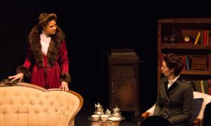 From a small cast of seven, Beck Lloyd (left) and Chantel Martin (right) provide the two standout performances in the drama department's production of Blood Relations.