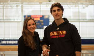 Women's volleyball libero Shannon Walsh (left) and men's hockey defenceman Robert Stellick are the co-presidents of the recently formed Varsity Leadership Council.