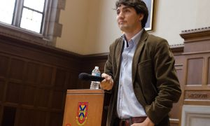 Justin Trudeau visited Queen's campus and spoke to students and supporters on Feb. 13. He is currently running for the leadership of the federal Liberal Party of Canada.