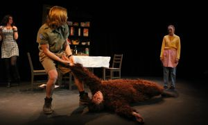 In the final addition to the Vogt series, the four plays contained zany characters ranging from a greek muse to a gorilla to Taliban soldiers.