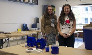 Claire Pierce and Lauren Mathieson, both ArtSci '14, are counselors with Summer SmARTs through the Summer Work Experience program.