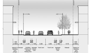 The proposed bike lanes will be approximately 1.5 metres in width.