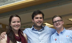 AMS executive from left to right: Nicola Plummer, Eril Berkok and Thomas Pritchard.