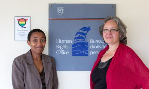 Irene Bujara, director and Stephanie Simpson, associate director of the HRO.