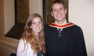 Siobhan Hayes, ArtSci '13, alongside her brother Connor, ArtSci '10, at his convocation ceremony.