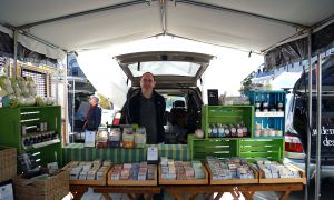 Rob Jones sells his soap online and at the Kingston Market.