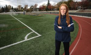 Gaels runner Victoria Coates has finished first or second in all four of her races this season.