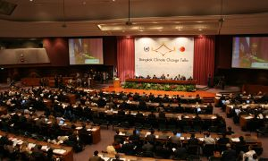 A UN climate change conference, which took place in Bangkok.