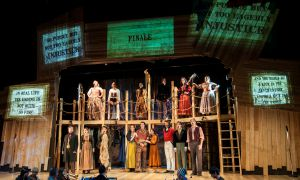 The Threepenny Opera production aims to explore the idea of interaction through the use of Twitter and Instagram projections around the stage.
