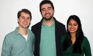 Team SMH, from left to right: Scott Mason, Mark Asfar and Hasina Daya.