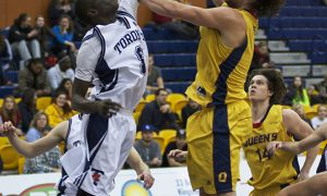 Men's basketball sits well behind Carleton, Ottawa and Ryerson, but they're within striking distance of the playoffs.