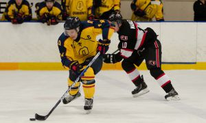 Captain Corey Bureau scored a goal in the Gaels' 3-2 loss to Carleton on Friday.