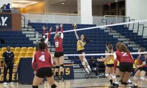 Outside hitter Kelsey Bishop tallied eight kills in Queen's four-set win over York on Sunday.