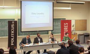 Jonathan Rose, Elizabeth Goodyear-Grant and Taylor Mann spoke at the event.