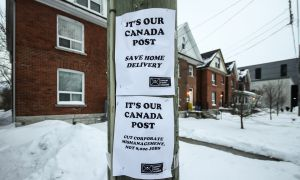 Some Kingston residents have rallied to keep Canada Post's home delivery service.