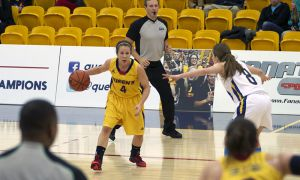 Gaels veteran guard Liz Boag is 19th in OUA scoring and ninth in assists this season.