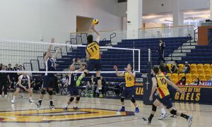 Queen's didn't drop a set en route to two wins in their final home games.