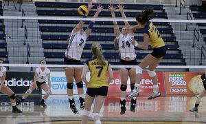 Playing her final two games with the Gaels, outside hitter Kelsey Bishop recorded 43 points over the weekend.
