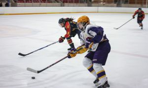 After Laurier tied Game One with six seconds left, Queen's scored on an overtime power play to take a series lead back to Kingston.