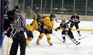 Men's hockey kept their season alive with a 2-1 win last Friday at the Memorial Centre, but lost 2-0 in a deciding third game at Carleton on Sunday.