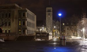 Campus Security is alerted after a blue light is activated on campus.