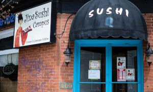 Jina Sushi was closed from April 23 to May 9 due to an investigation by the Canadian Border Services Agency.