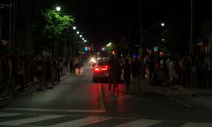 Police patrolled University Ave. on Sept. 3, looking for violations of the Liquor Licence Act.