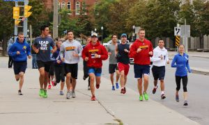 160 people participated in the annual Terry Fox Run.