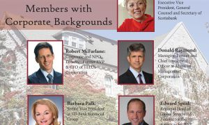 A few examples of members of Queen's Board of Trustees with corporate backgrounds.