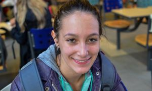 """""""Everyone needs a break during studying."""" Kelsey Cook, Sci '17"""